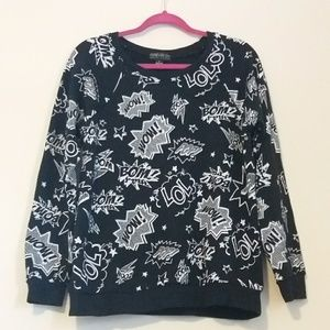 Women's Forever 21+ Plus Comic Long Sleeve Top XL